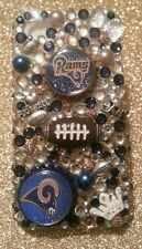 St Louis Rams NFL bling case 4 iPhone 4s,5,5s,5c,6,Samsung Galaxy S3,S4&S5