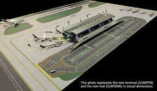GJARPTB Gemini Jets Airside Landside LED Lighted Airport 1/400 Scale Terminal