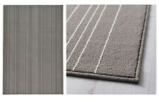 IKEA HULSIG Gray White Stripe Low Pile Rug Mat Runner Carpet stain resistant NEW