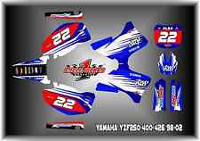 Yamaha YZF250 400 426 98-02  CUSTOM two two  GRAPHIC KITS DECAL