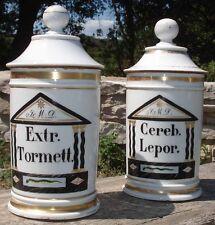 Apothicaire 2 Pots à Pharmacie en Vieux Paris Epoque Directoire-Empire