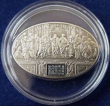 "MDS COOK ISLANDS 5 DOLLARS 2013 ""NANO CHIP RAPHAEL'S ROOMS"", SILBER"