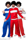 Athlete Trackie Mens Fancy Dress 80s Scouser Adult Fancy Dress Costume Tracksuit
