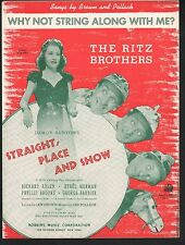 Why Not String Along With Me -Straight Place and Show Ethel Merman Ritz Brothers