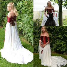 Medieval Victorian Renaissance Gothic Wedding Dress Vampire Cosplay Bridal Gowns