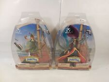 SET OF SEALED DISNEY STORE EXCLUSIVE PETER PAN & CAPTAIN HOOK ACTION FIGURES MOC