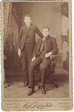 Late 1800s Cabinet Photo of Two Brothers from Stevens Point, Wis. - with Names