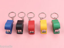 Portable Keychain Mini Cute Stapler For Home Office School Paper binder bid2