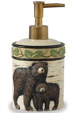 Black Bear Country Kitchen Bath Cabin Home Resin Soap/Lotion Dispenser