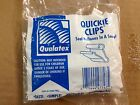 Bag Of 100 Qualatex Jiffy Clips Easy Tie For any Latex Balloon Quickie Clear New