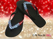 Havaianas flip flops or Cariris wedge  using Swarovski Crystals USA PATRIOTIC