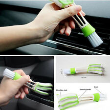 Car Double-Head Clean Tool Interior Air-condition Brush Care Detailing Microfibe