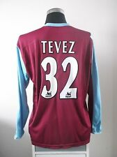Carlos TEVEZ #32 West Ham United L/S Home Football Shirt Jersey 2006/07 (XL)