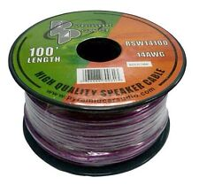 NEW Pyramid RSW14100 14 Gauge 100 ft of High Quality Speaker Wire(Colors vary)