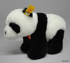Steiff Panda Bear on all Fours Plush 16cm 6in ID Button Tags 1997 -99 Vintage