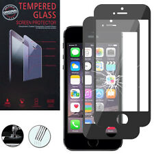 2 Films Verre Trempe Protecteur Protection NOIR pour Apple iPhone 5C