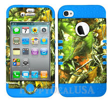 KoolKase Hybrid Silicone Cover Case for Apple iPhone 4 4S - Camo Mossy 10