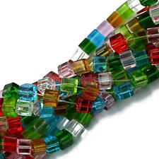 Colourful Crystal Glass Loose Beads Strand Great for DIY Jewelry Making 8mm