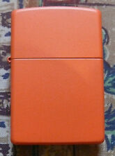 PLAIN REGULAR ORANGE MATTE ZIPPO LIGHTER FREE P&P FREE FLINTS