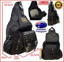 Shoulder messenger NEW strap bag backpack travel multi pockets large 9215 black
