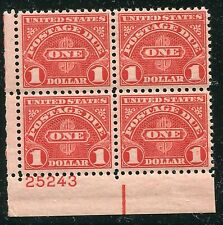 United States Postage Due Plate Block #J87 VF, NH - 17701