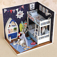 1 Set DIY Mini House Handmade Wooden Creative Room Model With Furniture Kids Toy