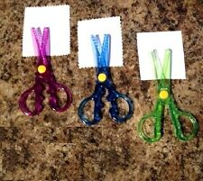 SAFETY SCISSORS CHILDRENS KIDS CARD MAKING ART & CRAFT PATTERN SCISSORS NEW X 3