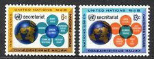 UN / New York office - 1968 Secretariat Mi. 196-97 MNH