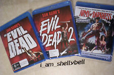 EVIL DEAD TRILOGY 1+2+3 on Blu-ray. EVIL DEAD 2, ARMY OF DARKNESS Screwhead Ed.