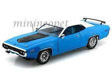 AUTOWORLD AMM1012 1971 71 PLYMOUTH ROAD RUNNER 440 1/18 DIECAST PETTY BLUE
