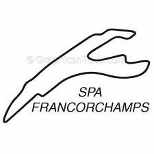 Spa Race Track Sticker Graphic Decal, Motor Racing GP F1 Circuit - 16 Colours