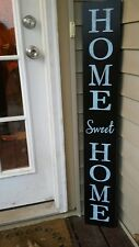 "Large Rustic Wood Vertical Porch Sign Home Sweet Home 48"" Primitive Distressed"