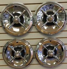 "14"" LANCER Style FLIPPER Hot Rod Custom Chrome Hubcaps Wheelcover SET"