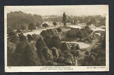 View of South Gardens & Terrace Hampton Court Palace - 1929