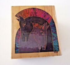 Laurel Burch Embracing Horses 948E rubber stamp