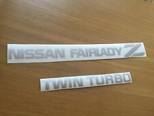 PEGATINA NISSAN FAIRLADY Z AND TWIN TURBO 300 ZX  REAR DECAL STICKER AUFKLEBER