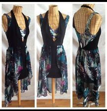 Bebe NWT SEXY Cleavage Floral Print Cutout Hi Low Maxi Cocktail Evening Dress XS