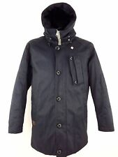 Amazing G-STAR RAW Mountain Hdd Parka Jacket Mens L Navy Blue Hooded RRP £199