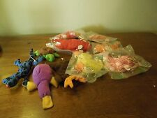 Lot of 11 Retro 1998 McDonald's Promotional TY Beanie Babies 3 Snort 2 Goldie