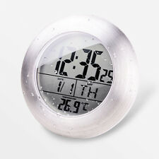 Shower Clock Digital Waterproof Suction Bathroom Cabinet Temperature Meter