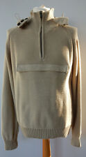 Barbour Ltd. Edition X To Ki To Hooded Half Zip Sweater Stone Size L/XL