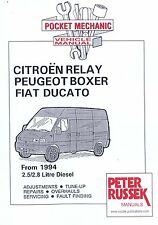 Citroen Relay, Fiat Ducato peugeot Boxer Diesel Model, 2.5 2.8 car Manual