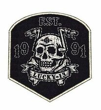 Lucky 13 Flying High Embroidered Biker Tattoo Motorcycle Sew On / Iron On Patch