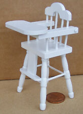 1:12 White Painted Babies High Chair Dolls House Miniature Nursery Dining 130