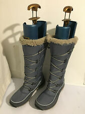 NEW CLARKS WALK TO HI GTX DEMIN BLUE GORE-TEX BOOTS UK 4 D LADIES SHOES  (B3