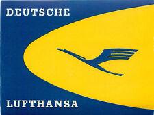 Deutsche LUFTHANSA / LUFT HANSA - Great Old Airline Luggage Label, c. 1960