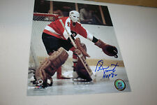 PHILADELPHIA FLYERS BERNIE PARENT SIGNED 8X10 PHOTO HOF 1986 POSE 3