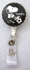 Soccer Ball SNOOPY Peanuts Retractable Reel/ID Card Badge Holder/Key Chain ring