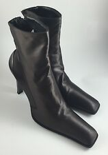 Gianni Barbato Designer Ankle Boots Steampunk Heels Women's 36.5 Bronze Brown