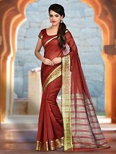Red Colour Banarasi Silk Saree With Unstitched Blouse Piece-HIKBR-BANARSI-5-RED